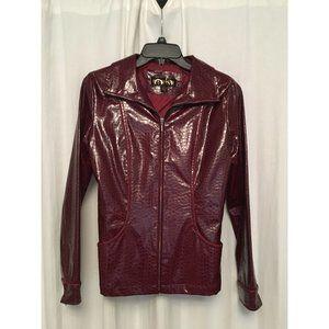 Static Brand croc pattern Faux leather jacket